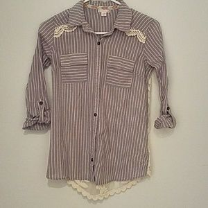 Lacey striped button down